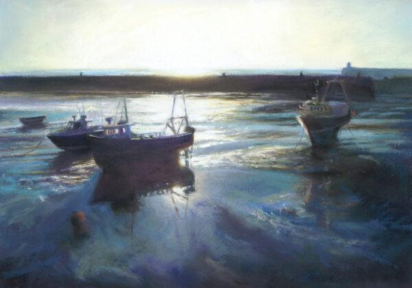 Low Sun in the Harbour - Folkestone