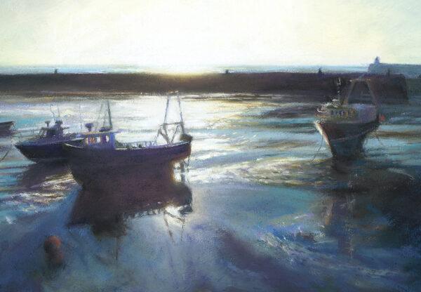 Low sun in Folkestone harbour